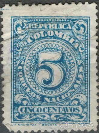 Колумбия 1908   1908 г. Sc#328 UNUSED, G/VG . Одесса, Одесская область. фото 1