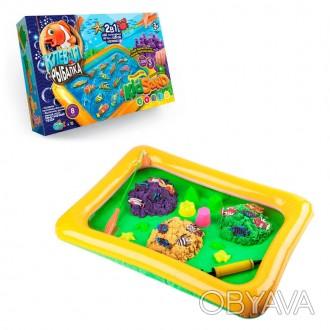 Игра большая 2 в 1 BabyYes Клевая рыбалка + KidSand Разноцветный  (bc-by-292154)