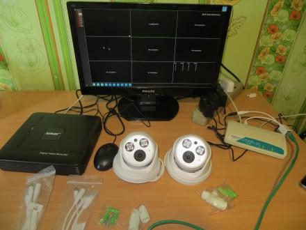IP камера с записью звука 2 мегапикселя (купольная).H.265 Как показывает сморит. Ровно, Ровненская область. фото 3