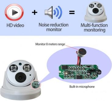 IP камера с записью звука 2 мегапикселя (купольная).H.265 Как показывает сморит. Ровно, Ровненская область. фото 4