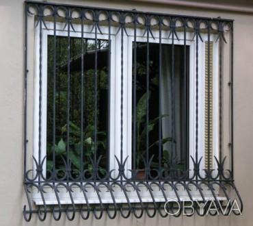 Изготовление и монтаж решеток на окна, балконы, двери. Быстро, качественно, недо. Киев, Киевская область. фото 1