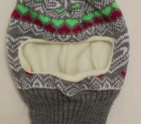 Продаю шапку шлем для девочки. Шапочка двойная, внутри утеплена флисом, благодар. Киев, Киевская область. фото 4