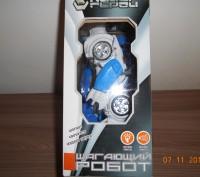Робот на батарейках.Ходит,звук,свет. Размер упаковки 24*16 см. Высота робота 1. Миргород, Полтавская область. фото 4