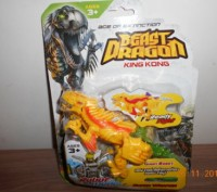 Динозавр трансформер, на листе, в наличии желтый. Миргород. фото 1