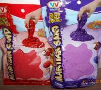 Кинетический песок с блеском 0,5 кг , в наличии фиолетовый. Миргород. фото 1