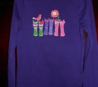 Фиолетовая футболка  на 7 лет,GYMBOREE,новая но без бирок,из США замеры:длина-4. Киев, Киевская область. фото 2
