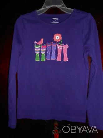 Фиолетовая футболка  на 7 лет,GYMBOREE,новая но без бирок,из США замеры:длина-4. Киев, Киевская область. фото 1