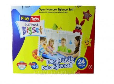 """Масса для лепки Bigset PT 42188 """"Play Toys """" (24 предмета: 6 цветов) Лучший пода. Киев, Киевская область. фото 3"""