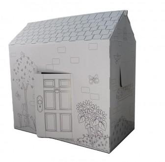 Вашему вниманию предлагаем отличный подарок для детей - картонный домик-раскра. Киев, Киевская область. фото 2