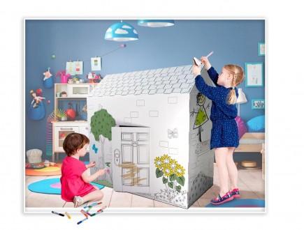 Вашему вниманию предлагаем отличный подарок для детей - картонный домик-раскра. Киев, Киевская область. фото 4