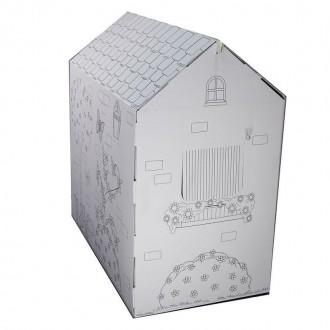Вашему вниманию предлагаем отличный подарок для детей - картонный домик-раскра. Киев, Киевская область. фото 3