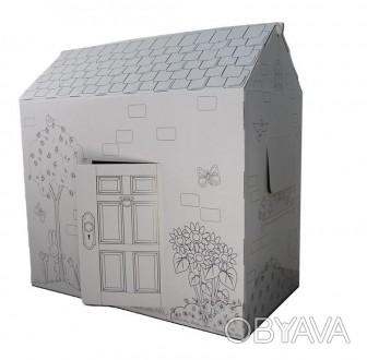 Вашему вниманию предлагаем отличный подарок для детей - картонный домик-раскра. Киев, Киевская область. фото 1