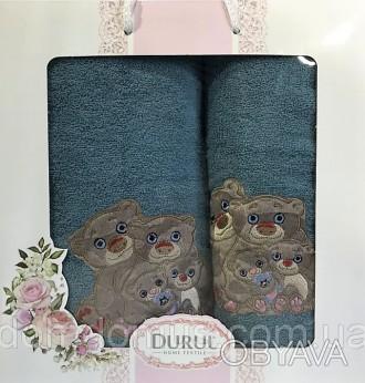 Подарочный набор детских махровых полотенец торговой марки Durul havlu из 100 % . Одеса, Одесская область. фото 1
