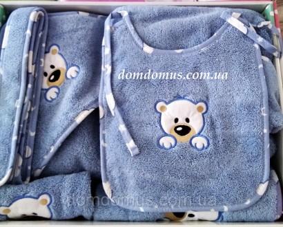 Подарочный набор детских махровых полотенец торговой марки из 100 % натурального. Одесса, Одесская область. фото 3