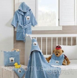 Подарочный набор детских махровых полотенец торговой марки из 100 % натурального. Одесса, Одесская область. фото 1