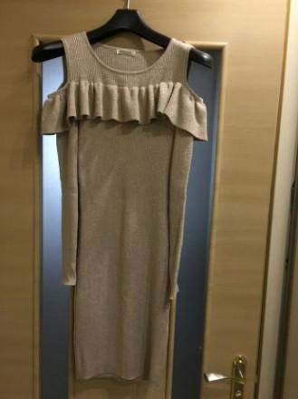 Продам красивое золотое платье,приятное к телу. Размер М можно мерить  на S и L,. Киев, Киевская область. фото 3