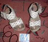 босоножки белые для девочки. б/у. состояние хорошее.. Суми, Сумська область. фото 2
