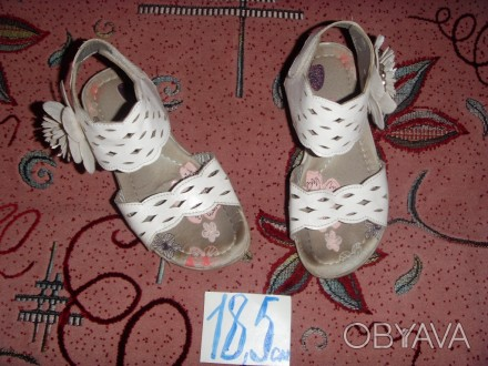 босоножки белые для девочки. б/у. состояние хорошее.. Суми, Сумська область. фото 1