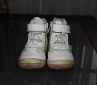Ботинки детские весна - осень для девочки, белого цвета. Кожаные со вставками из. Житомир, Житомирська область. фото 4
