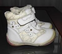 Ботинки детские весна - осень для девочки, белого цвета. Кожаные со вставками из. Житомир, Житомирська область. фото 2
