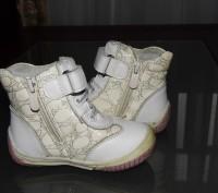 Ботинки детские весна - осень для девочки, белого цвета. Кожаные со вставками из. Житомир, Житомирська область. фото 3