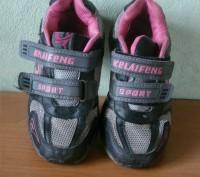 кроссовки детские ,серые с розовыми вставками для мальчика или девочки ,б/у,  хо. Полтава, Полтавська область. фото 2