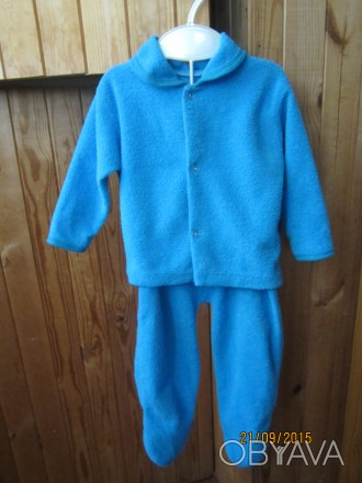 Можно так же и одевать как костюмчиком.Светло синий.Тонкая махра.Размер меряла с. Житомир, Житомирская область. фото 1