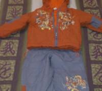 Комбинезон раздельный, штаны внизу с резинкой, состояние отличное. Киев, Киевская область. фото 2