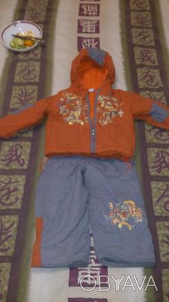 Комбинезон раздельный, штаны внизу с резинкой, состояние отличное. Киев, Киевская область. фото 1