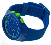 Швейцарский хронограф Swatch Chrono Plastic BLUE C SUSN400, очень яркая серия ча. Коростень, Житомирская область. фото 3