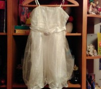 Праздничное платье на девочку с болеро, красивое, удобное, нежное, в отличном со. Житомир, Житомирська область. фото 4