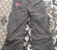 Штаны на девочку на шлейках,шейки регулируются. теплые на синтепоне, красивые.уд. Житомир, Житомирская область. фото 2
