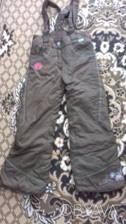 Штаны на девочку на шлейках,шейки регулируются. теплые на синтепоне, красивые.уд. Житомир, Житомирская область. фото 1