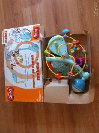 Детская музыкальная подвесная игрушка от 0 до 6 месяцев,б/у, в хорошем состоянии. Полтава, Полтавская область. фото 1
