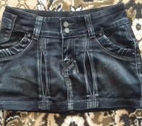 Джинсовая юбка на подростка 10 - 14 лет. на худую девочку, юбка в хорошем состоя. Житомир, Житомирская область. фото 2