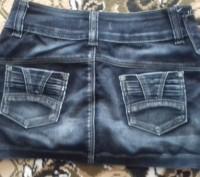 Джинсовая юбка на подростка 10 - 14 лет. на худую девочку, юбка в хорошем состоя. Житомир, Житомирская область. фото 3