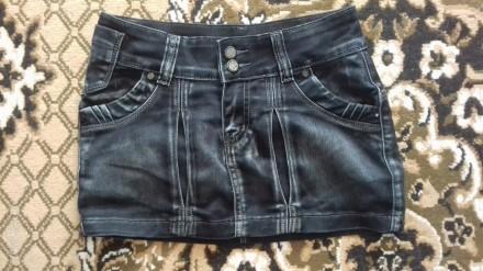 Джинсовая юбка на подростка 10 - 14 лет. на худую девочку, юбка в хорошем состоя. Житомир, Житомирская область. фото 1