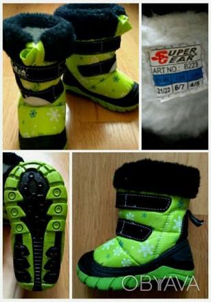 """Продам зимние сапожки """"Снеговик"""" от венгерского бренда Super Gear - замечательны. Коростень, Житомирська область. фото 1"""