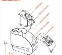 Продам новый портативный стильный замок на диск Kovix KD6 Подходит для большинс. Житомир, Житомирская область. фото 4