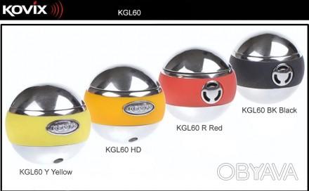 Продам новый портативный стильный замок с сигнализацией на диск Kovix KGL60 Под. Житомир, Житомирская область. фото 1