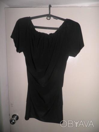 Продам облегающую модную платье - тунику черного цвета фирмы WHITE. Размер 42-44. Житомир, Житомирская область. фото 1