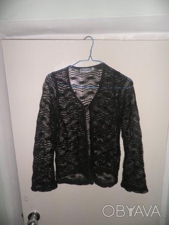 Продам красивую вязаную накидку черного цвета, размер 42. Отправлю Новой почтой . Житомир, Житомирская область. фото 1