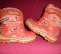 Зимние розовые сапожки (ботинки) YTOP на липучка и сбоку замок 25 р.. Полтава. фото 1