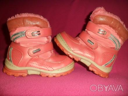Детские ботинки YTOP для девочки.  Размер – 25 Длина по стельке - 16 см.  Ма. Полтава, Полтавська область. фото 1
