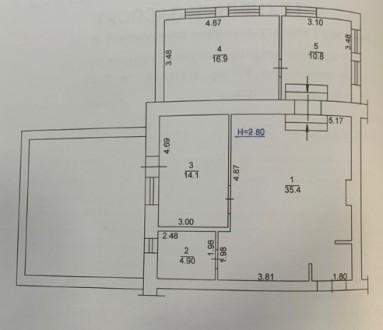 Продам 3-х комнатную квартиру в ЖК Карат ул.Университетская. Площадь 92 м2 с те. Центральный парк, Ирпень, Киевская область. фото 4