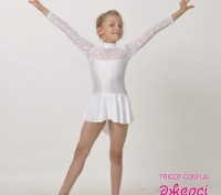 Гімнастичні трико зі спідницею з асиметричним краєм стане ідеальним костюмом для. Бердянск, Запорожская область. фото 5