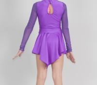 Гімнастичні трико зі спідницею з асиметричним краєм стане ідеальним костюмом для. Бердянск, Запорожская область. фото 4
