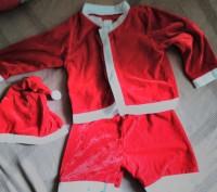 Новогодний костюм Санты для мальчика. В комплект входит шапочка,шортики и шапочк. Коростень, Житомирская область. фото 3