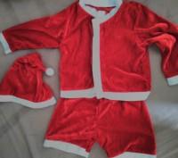 Новогодний костюм Санты для мальчика. В комплект входит шапочка,шортики и шапочк. Коростень, Житомирская область. фото 4