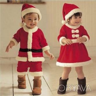 Новогодний костюм Санты для мальчика. В комплект входит шапочка,шортики и шапочк. Коростень, Житомирская область. фото 1